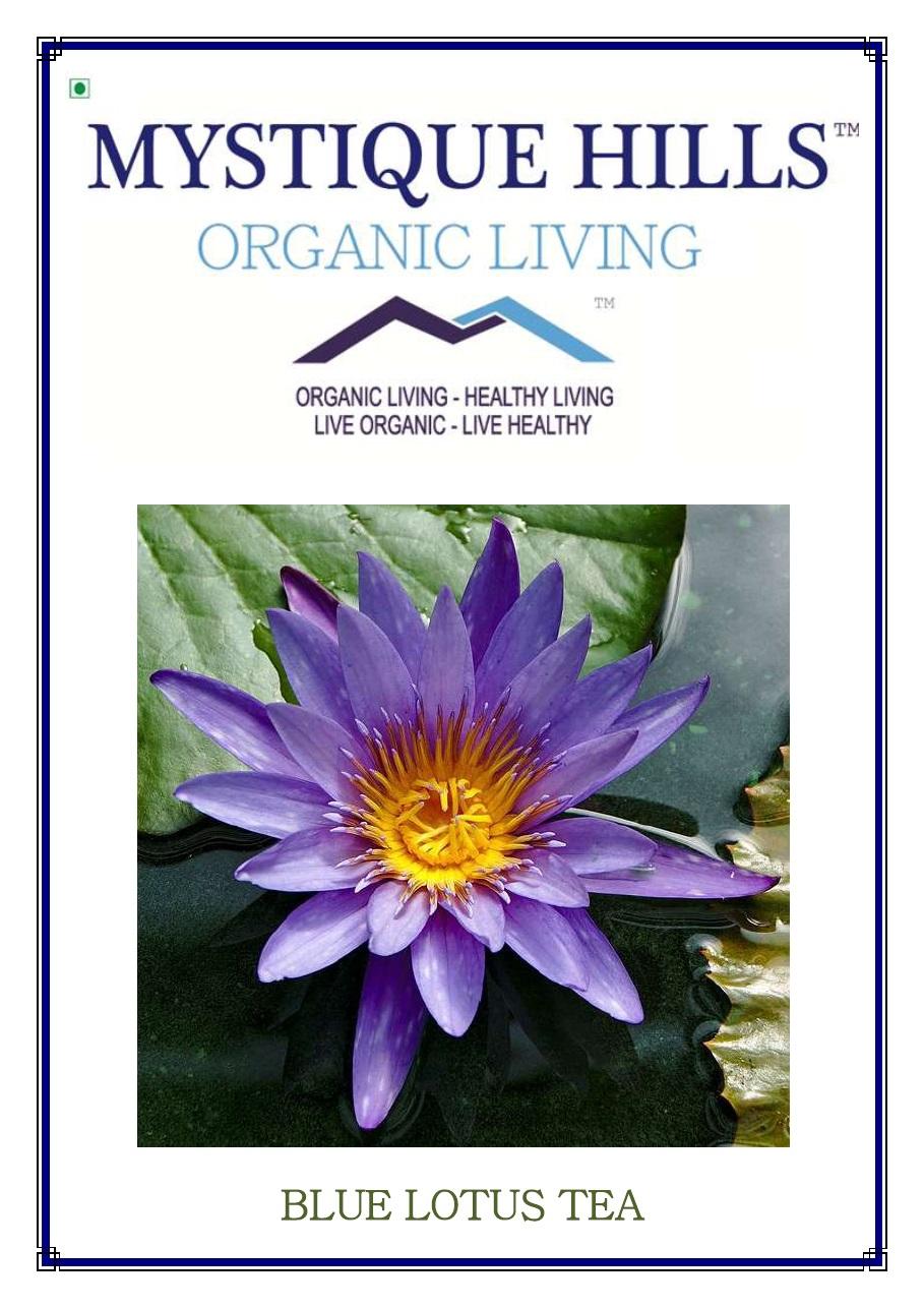 Organic Blue Lotus Petal Tea Powder 50 G Mystique